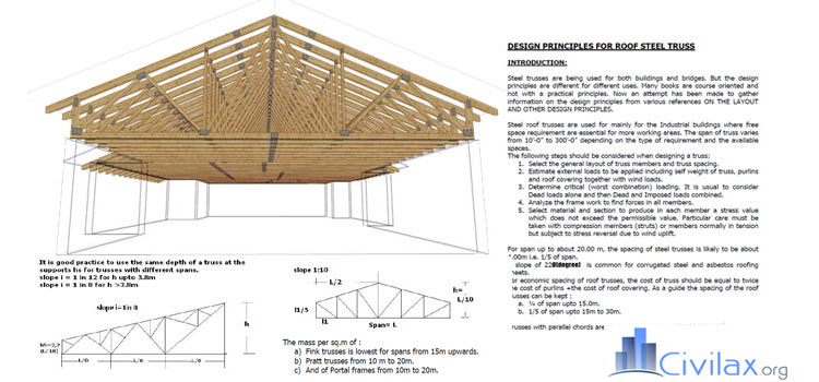 Design Principles For Steel Roof Truss