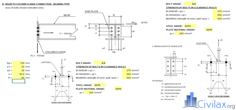 Shear Connection Design Calculation