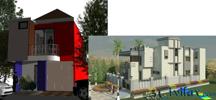 2 different house models in revit civil engineering for Different models of houses