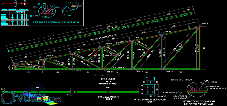 Details of roof truss civil engineering downloads Roof drawing software