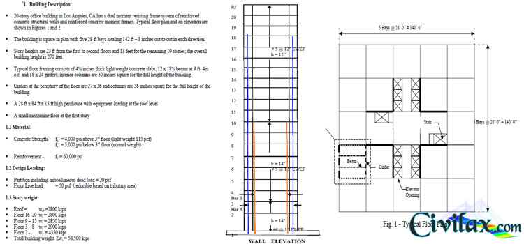 Rcc Design For 20 40 Building : Preliminary design of a story reinforced concrete