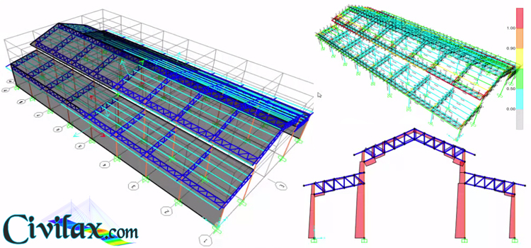 Design Of Steel Truss Factory Using Sap2000 Civil