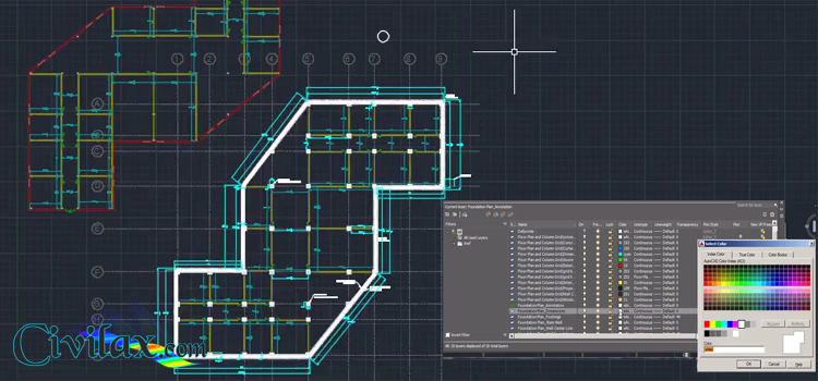 drawing foundation plans in autocad civil engineering