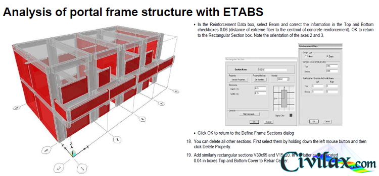 Analysis of Portal Frame Structure with ETABS - Civil Engineering ...