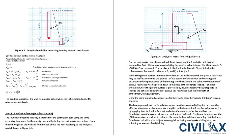 Cantilever Retaining Wall Design Example Crowdbuild For - design of retaining wall example aci
