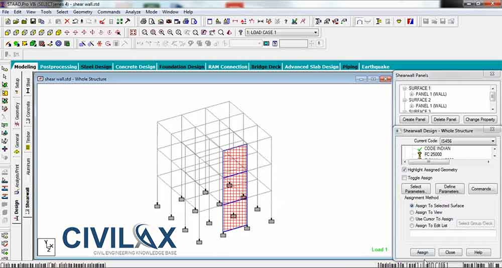 Shear Wall Design Download : Shear wall design and analysis using is in staad pro