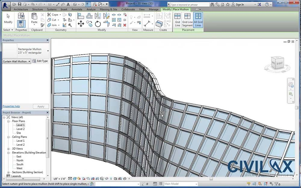 Storefront curtain walls and curtain systems in revit for Curtain creator software