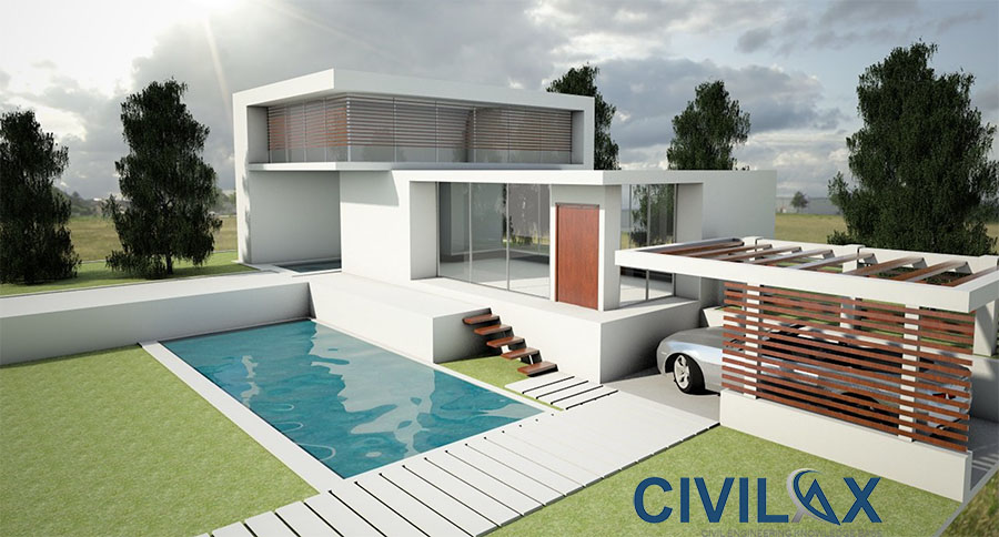 Sketchup 3d model of minimalist housing civil for Minimalist house sketchup